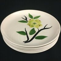 Lot of 5 VTG Bread and Butter Plates by Joni China Dixie Dogwood Blossoms USA