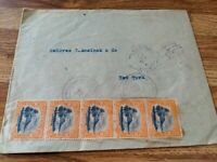 1915 Envelope sent from GUATEMALA to NEW YORK w/5 Guatemala Stamps