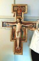 Romanisches Kruzifix, Antikes-Kreuz holzgeschnitzt, woodcarving old Cross
