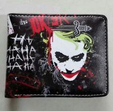 Black The Joker Batman Dark Knight HAHAHA Leather Bifold Money Coin Card Wallet