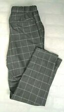MASAI Women's Tailored Grey Checked Trousers With Drawstring Size XS UK 4- 348