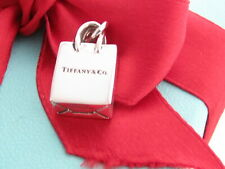 Auth Tiffany & Co Silver 925 Shopping Bag Charm Pendant For Necklace Bracelet