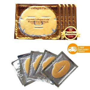 24K Gold Bio-Collagen Facial Masks, Lip Masks Collagen Facial Masks Anti-Aging