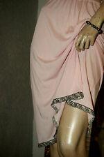 Prinzessschöner Nylon * Kunstseiden Unterrock rosa zart Stickereispitze Gr. 44