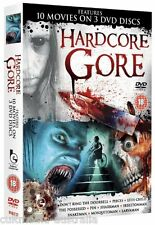 HARDCORE GORE HORROR FEATURE FILMS COLLECTION NEW 10 MOVIES 3 DVD BOXSET R4