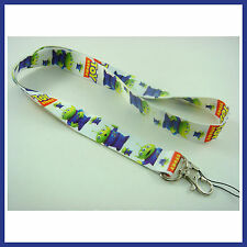 Toy Story Aliens Neck Lanyard Strap Cell Mobile Phone ID Card Key chain + Badge