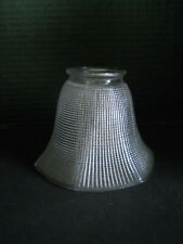 Glass Lampshade, Textured Glass, Pendant Light Shade, 1940's Lampshade
