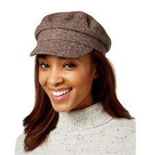 21a6c870f5034 Nine West women s brown tweed newsboy hat