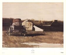 AMERICANA ART PRINT - Cider Barrel by Andrew Wyeth 1993 Farm Poster 32x26