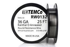 TEMCo Kanthal D wire 36 Gauge 25 ft  Resistance AWG A-1 ga