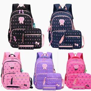 3er Kinder Schultasche Schulrucksack Mädchen Rucksack Backpack Schulranzen DE