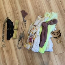 Spring Summer Fall Scarves Lot Of 5, Belts And Necklaces Lot Of 3 Each, Bracelet