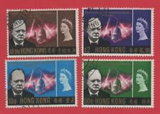 "1966 HONG KONG QEII STAMPS ""WINSTON CHURCHILL COMMEMORATION"" SG£13.45 USED"