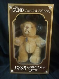 GUND Limited Edition 1985 Collector's Brown Bear Original Box & Tags