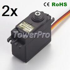 2x MOTORE GEAR SERVO COMANDO DIGITALE TOWER PRO MG995 (Arduino-Compatibile)