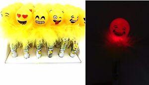 Light Up Cute Emoji Cartoon Pen Ballpoint emoji Creative Party Favors- 6 Pcs
