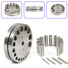 17 Hole Jewelry Punch Die Disc Cutter Set Metal Plate Cutting Tool USA STOCK