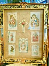 Vintage Framed Die-cut Religious Holy, Prayer Cards: Eclectic Art