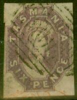 Tasmania 1867 6d Reddish Mauve SG49 Fine Used