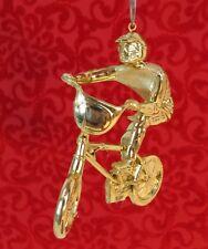 Custom BMX Bicycle Biking Motocross Gold Christmas Tree Ornament