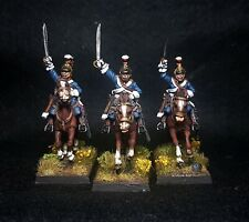 28mm perry miniatures napoleonic British household cavalry x3 Painted