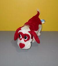 """12"""" Long Kids of America Red & White Walking Singing Plush Puppy Love Song"""