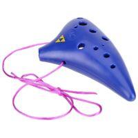 12 Hole Ocarina Plastic Alto C Vessel Flute Wind Musical Instrument Legend  F4D4