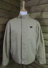 Timberland High Quality Canvas Biker Style Bomber Jacket Sand Large 44""