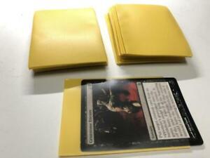 Lenayuyu 100pcs Yellow color Protector Standard MTG Card Sleeves 66x91mm Glossy