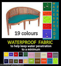Waterproof Fabric Peanut Banana Moon Bench Cushion Garden Furniture 19 Cols