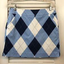 New listing Loudmouth Women's Navy, Light Blue & White Argyle Print Golf Skort, Size 6