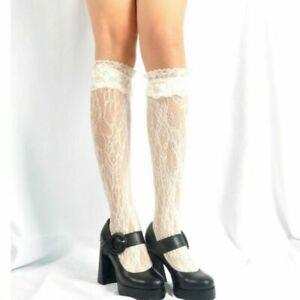 Womens Fashion Sexy Lace Knee-High Ruffle Cosplay Stockings Lolita Gothic Socks