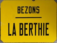 Esmalte Francés Antiguo RATP acero signo calle Placa Bus Stop Bezons la COMPOSTEL PARIS