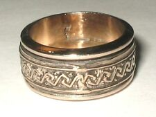 SOUTHWESTERN STERLING SILVER GOLD PLATE WEDDING BAND SPINNER RING 10g SIZE 8