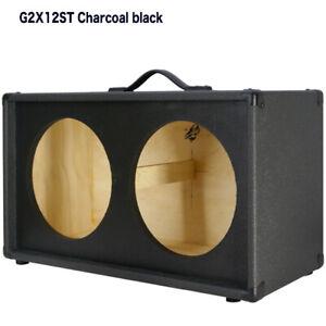2x12 Guitar Speaker Empty Cabinet (Charcoal Black Tolex) US made G212ST CBTLX
