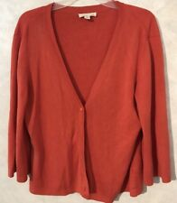 Women's Orange Cardigan Size M Coldwater Creek