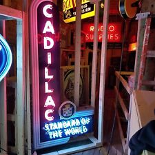 """New Cadillac Dealer Neon Vertical Sign 40""""W x 84""""H"""