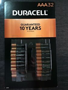 32 PACK AAA DURACELL Coppertop Alkaline Batteries Tripple A Free Shipping USPS