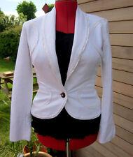 Just Cavalli White designer Jacket UK 12 Turtle Buttons
