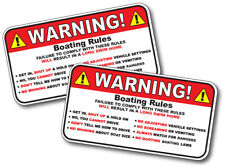 2 Pack Boating Rules Decal Boat Funny Adult Humor Offensive Joke Sticker Vinyl
