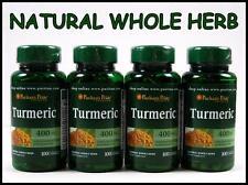 Puritans Pride TURMERIC 400mg ~ 400 Capsules ~ Antioxidant Curcuma Longa Tumeric