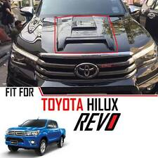 Gloss Black Hood Scoop Bonnet Cover Trim Toyota Hilux Revo M70 M80 SR5 15 16 17