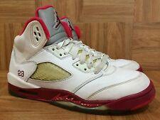 3717912771a9d2 RARE💁 Nike Air Jordan 5 V Retro White Legacy Red Scarlet Fire Sz 7Y 440892