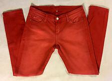 IRO Jarod Burnt Orange Rust Denim 5-Pocket Skinny Jeans sz 29