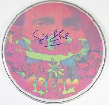 """Ginger Baker CREAM Signed Autograph 12"""" Drum Head Drumhead   Eric Clapton"""