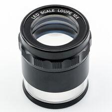 Misurazione Loupe Magnifier, kimag-10-led, 10x con 0,1 mm scala