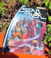 """1998 Playmate Star Trek Warp Factor Series Kang W/Space Cap/Base/Gear 5"""" Moc"""