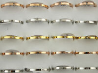 60stk Neueste Großhandel Schmuck gemischt Strass Ringe Mode Edelstahl Ring