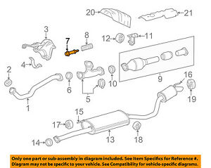TOYOTA OEM Exhaust-Muffler & Pipe Bolt 90109A0023