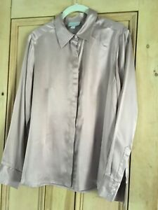Pure Collection 100% Silk Blouse Dusty Pink, Size 14 - Never Been Worn